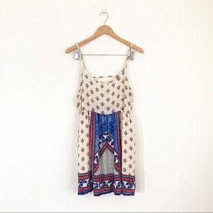 Forever 21 Boho printed open back dress